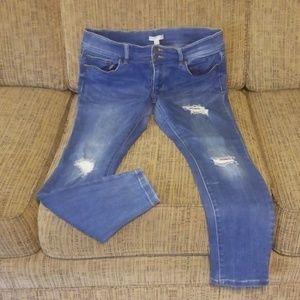 NY&C Distressed Skinny Jeans